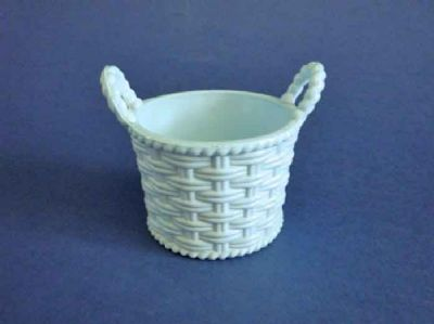 Sowerby Turquoise Vitro-Porcelain Glass Flower Basket c1880